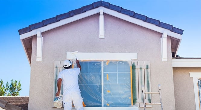 Painting the exterior of the home with the best exterior paint
