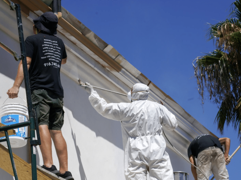 Lifetime House Paint Getting Applied
